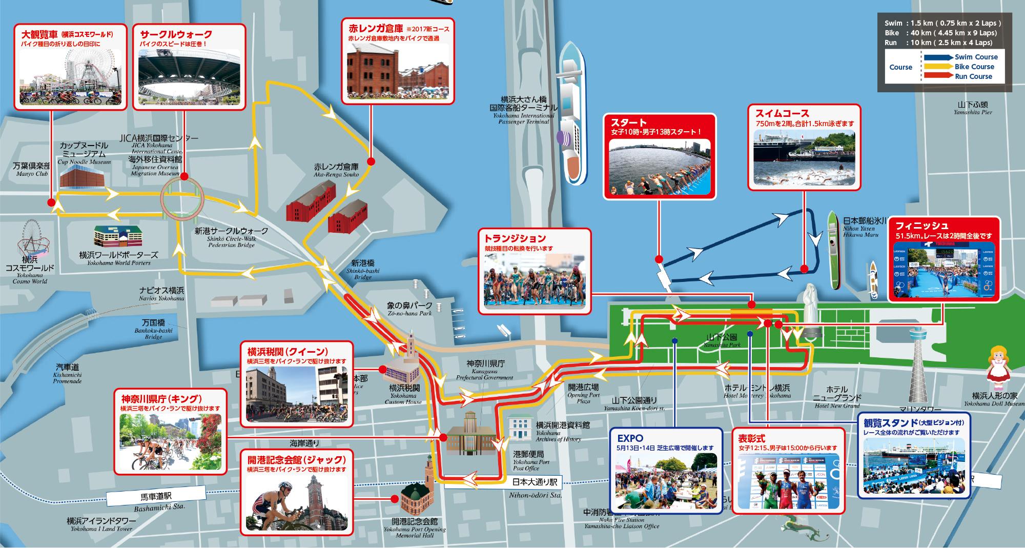 トライアスロン 横浜 コース