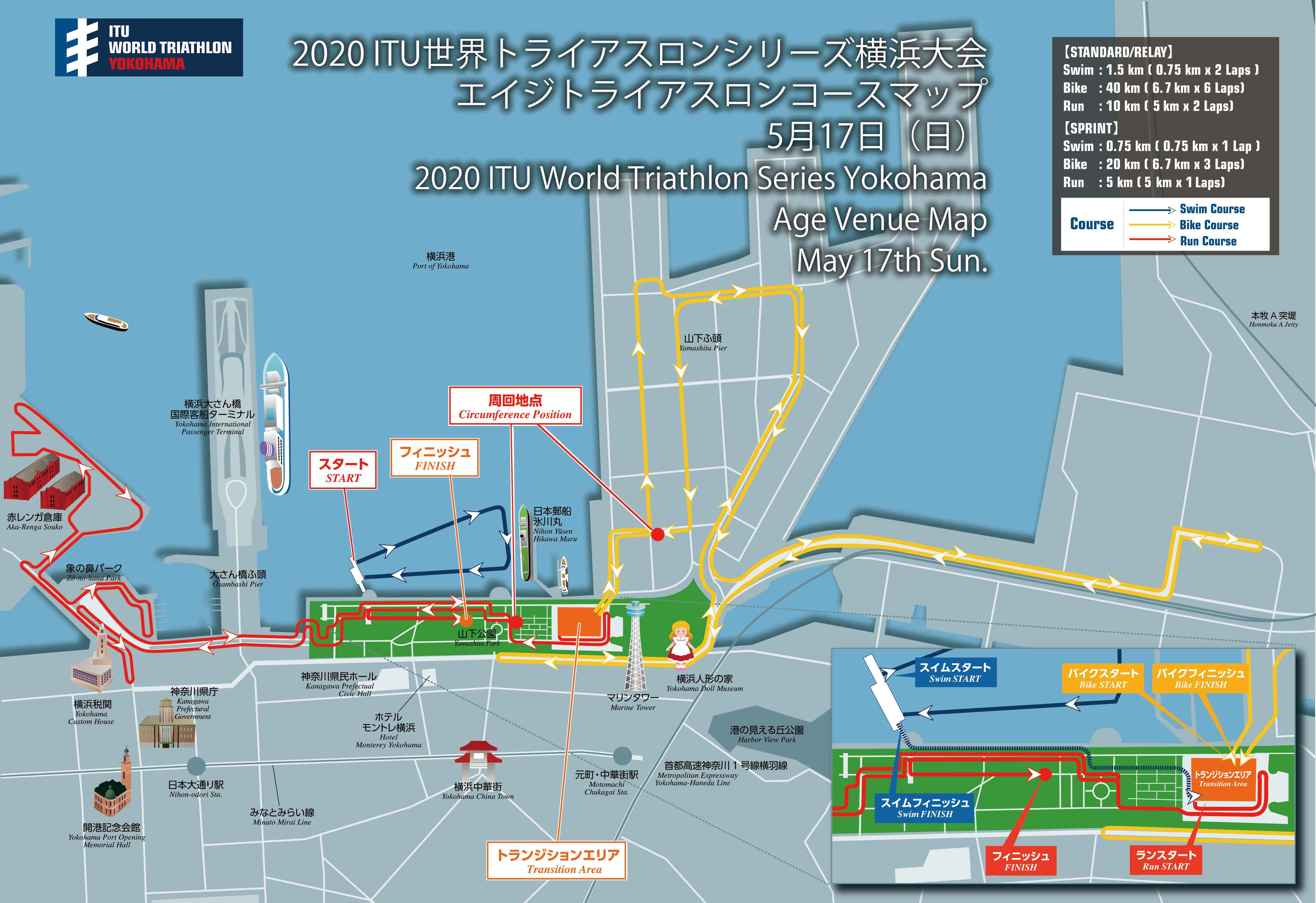 コースマップ(エイジグループ)